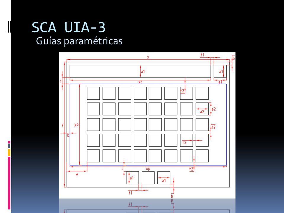 SCA UIA-3 Guías paramétricas