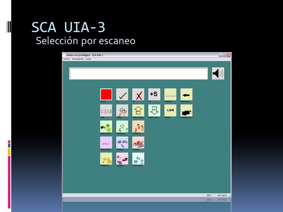 SCA UIA-3 Selección por escaneo