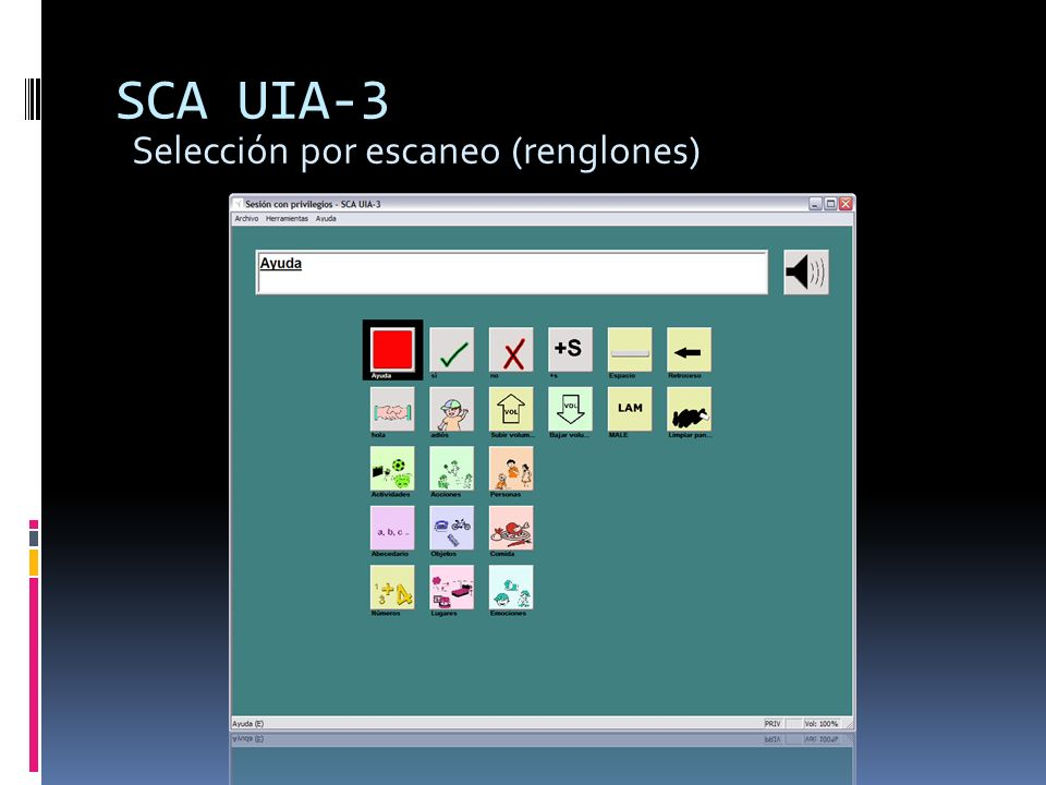 SCA UIA-3 Selección por escaneo (renglones)
