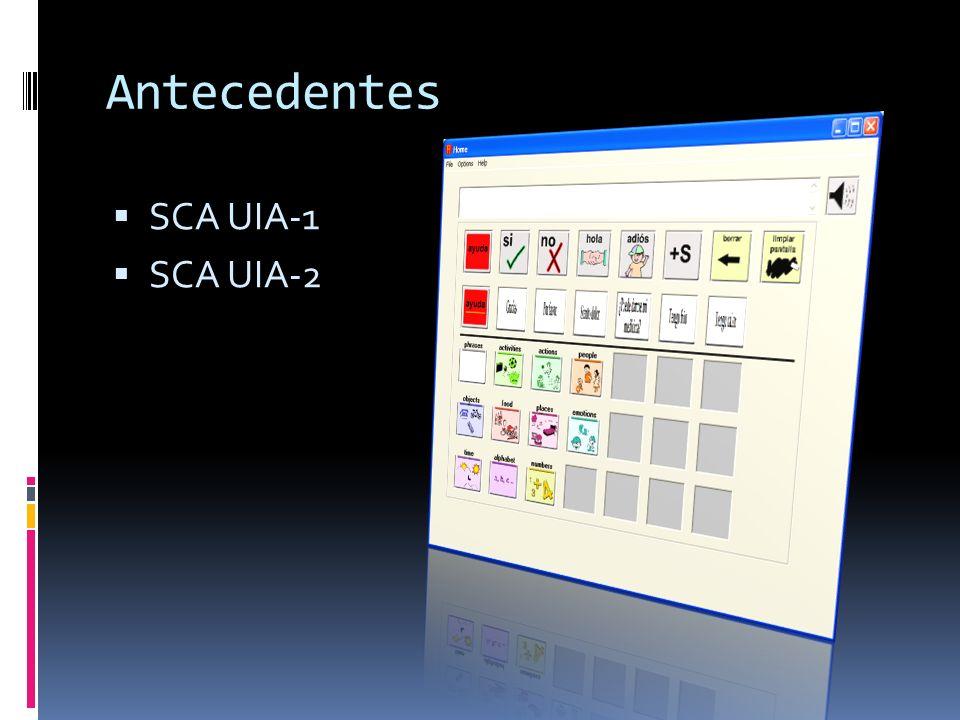 Antecedentes SCA UIA-1 SCA UIA-2