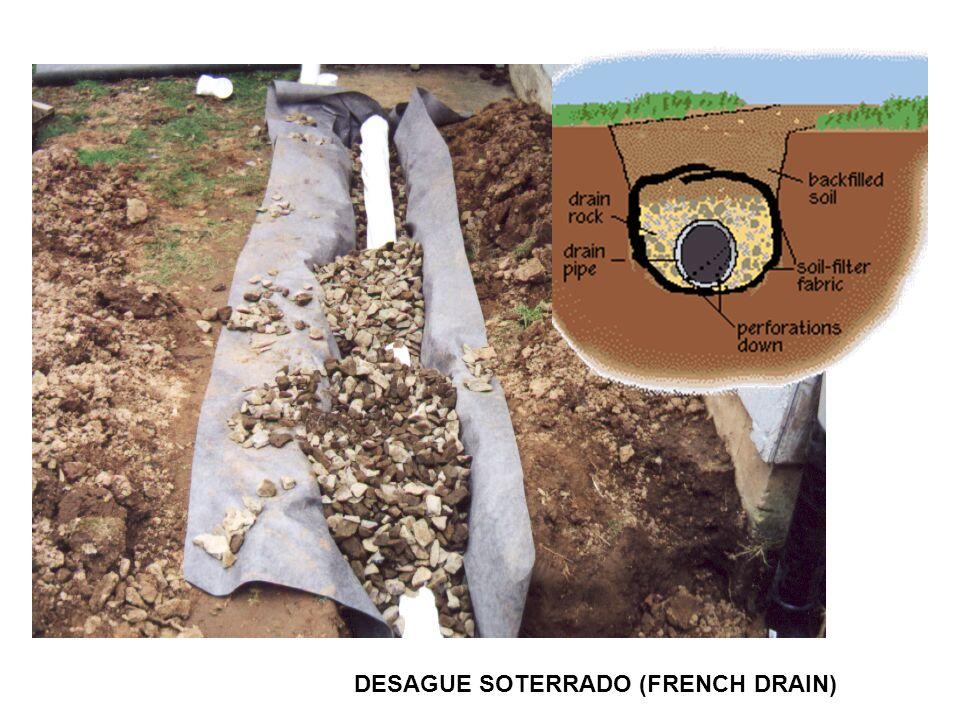 DESAGUE SOTERRADO (FRENCH DRAIN)
