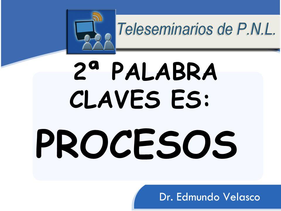 2ª PALABRA CLAVES ES: PROCESOS