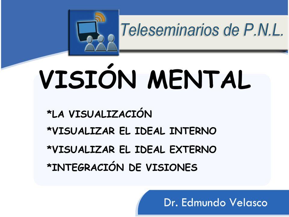 VISIÓN MENTAL *VISUALIZAR EL IDEAL EXTERNO *LA VISUALIZACIÓN *VISUALIZAR EL IDEAL INTERNO *INTEGRACIÓN DE VISIONES