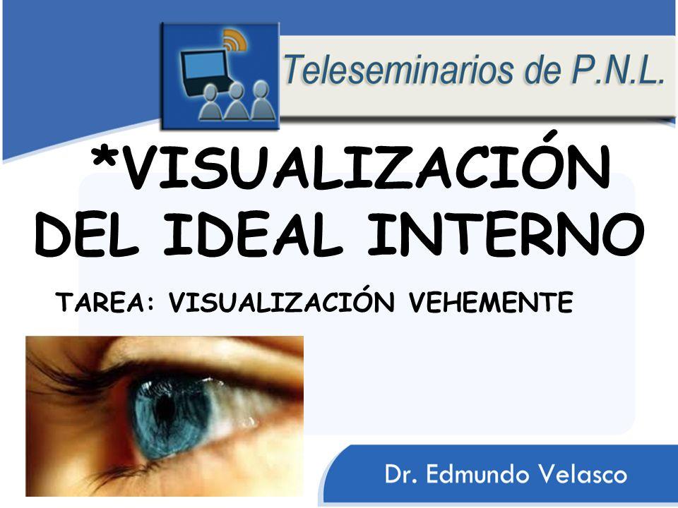 *VISUALIZACIÓN DEL IDEAL INTERNO TAREA: VISUALIZACIÓN VEHEMENTE