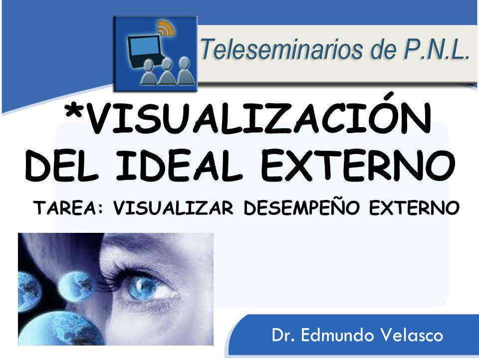 *VISUALIZACIÓN DEL IDEAL EXTERNO TAREA: VISUALIZAR DESEMPEÑO EXTERNO