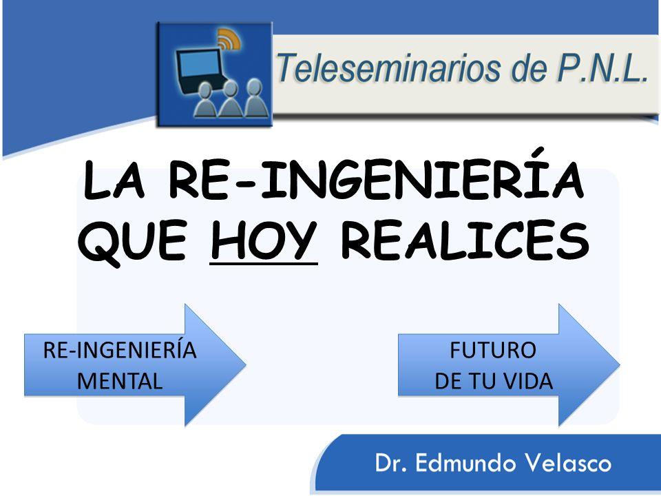 LA RE-INGENIERÍA QUE HOY REALICES RE-INGENIERÍA MENTAL RE-INGENIERÍA MENTAL FUTURO DE TU VIDA FUTURO DE TU VIDA