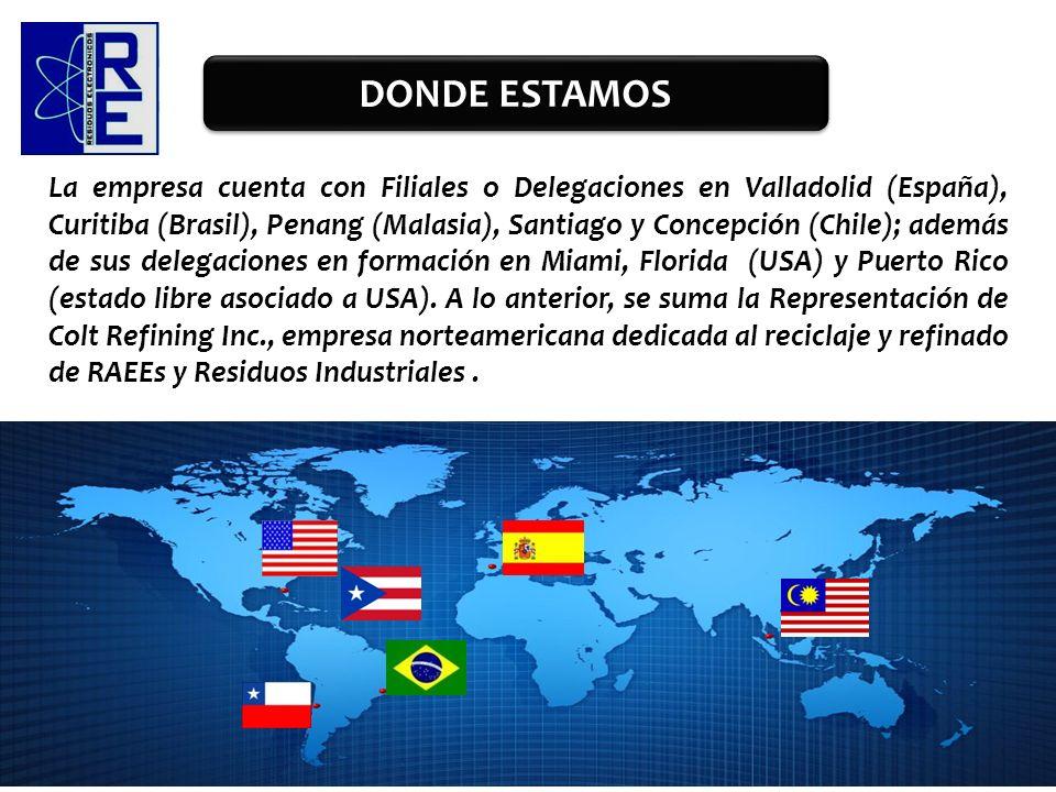 La empresa cuenta con Filiales o Delegaciones en Valladolid (España), Curitiba (Brasil), Penang (Malasia), Santiago y Concepción (Chile); además de su