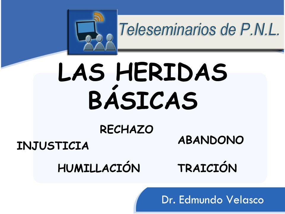 LAS HERIDAS BÁSICAS HUMILLACIÓN ABANDONO INJUSTICIA RECHAZO TRAICIÓN