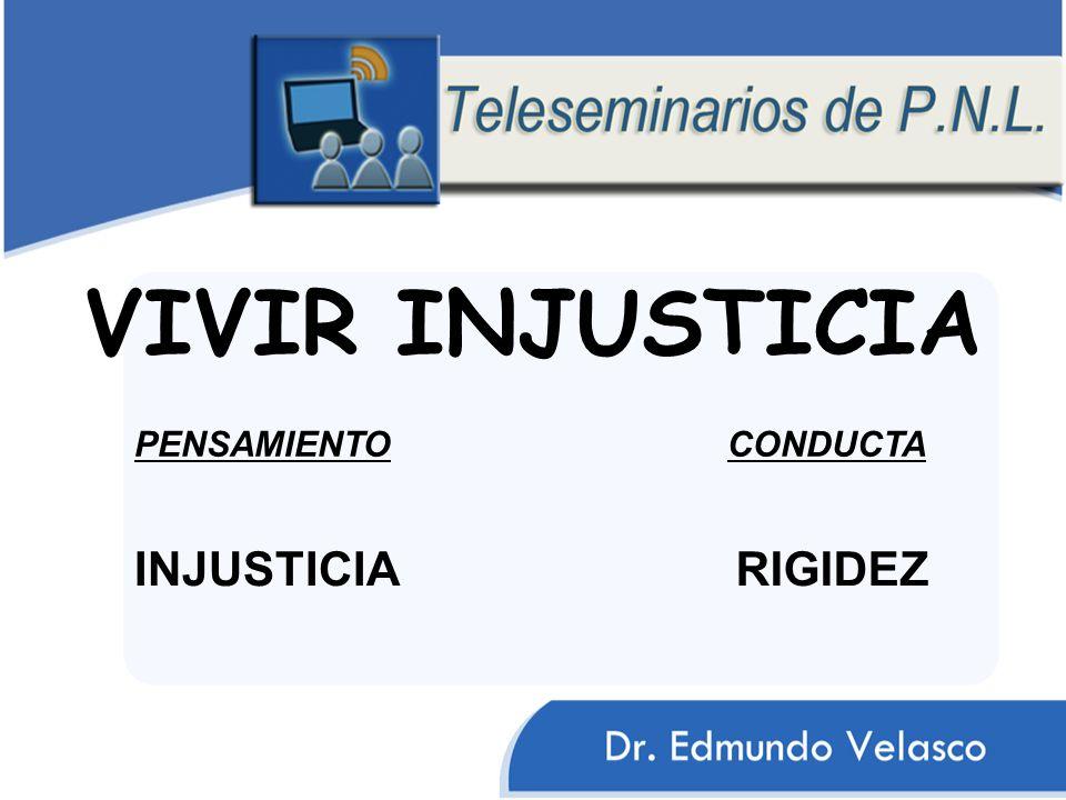 VIVIR INJUSTICIA INJUSTICIA CONDUCTAPENSAMIENTO RIGIDEZ