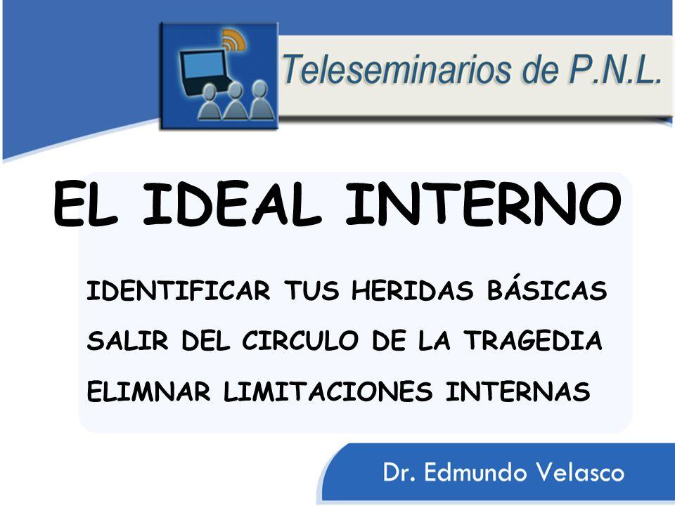 EL IDEAL INTERNO IDENTIFICAR TUS HERIDAS BÁSICAS SALIR DEL CIRCULO DE LA TRAGEDIA ELIMNAR LIMITACIONES INTERNAS