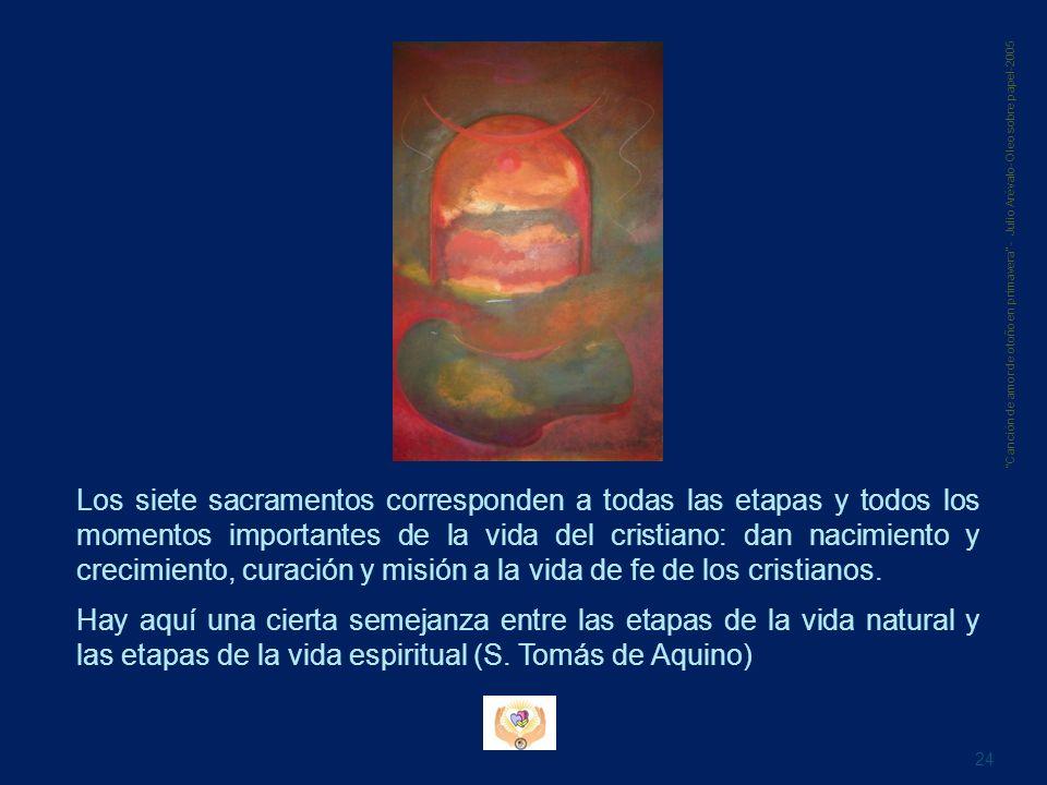 Los siete sacramentos corresponden a todas las etapas y todos los momentos importantes de la vida del cristiano: dan nacimiento y crecimiento, curació