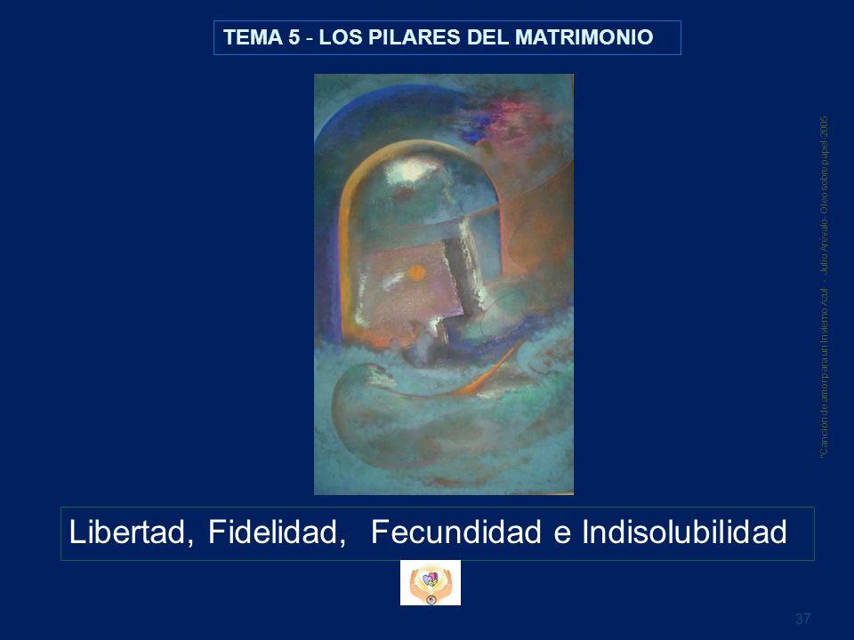 Libertad, Fidelidad, Fecundidad e Indisolubilidad 37 Canción de amor para un Invierno Azul· - Julio Arévalo- Oleo sobre papel-2005 TEMA 5 - LOS PILARE