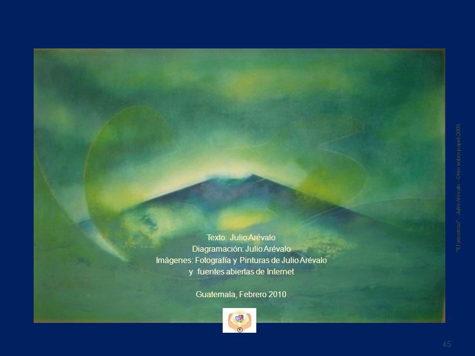 Texto: Julio Arévalo Diagramación: Julio Arévalo Imágenes: Fotografía y Pinturas de Julio Arévalo y fuentes abiertas de Internet Guatemala, Febrero 20