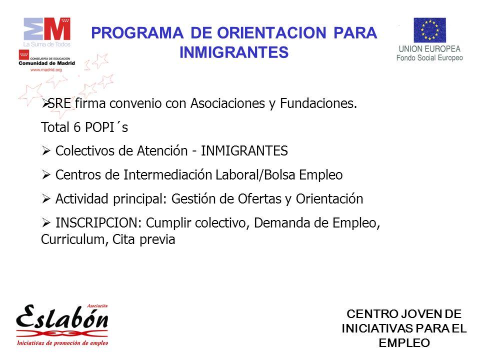 PROGRAMA DE ORIENTACION PARA INMIGRANTES SRE firma convenio con Asociaciones y Fundaciones.