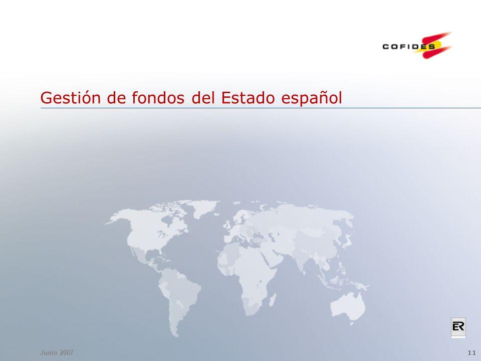 Junio 2007 11 Gestión de fondos del Estado español