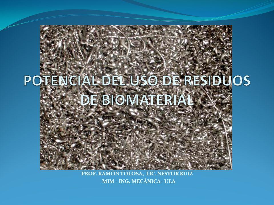 Material no viable utilizado en un dispositivo médico, destinado a interactuar con los sistemas biológicos.