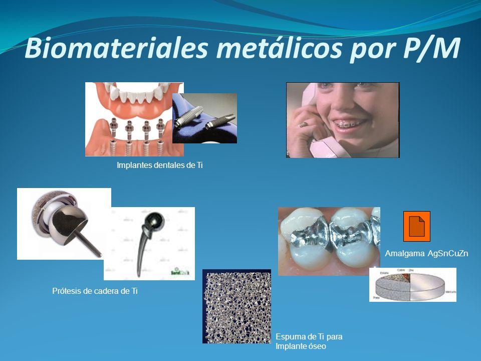 Biomateriales metálicos por P/M Implantes dentales de Ti Prótesis de cadera de Ti Espuma de Ti para Implante óseo Amalgama AgSnCuZn