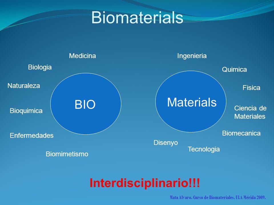 Biomaterials Materials BIO IngenieriaMedicina Biologia Naturaleza Enfermedades Bioquimica Biomimetismo Quimica Fisica Ciencia de Materiales Biomecanic