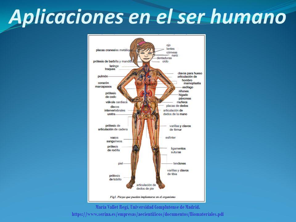 Aplicaciones en el ser humano María Vallet Regí, Universidad Complutense de Madrid. https://www.serina.es/empresas/aecientificos/documentos/Biomateria