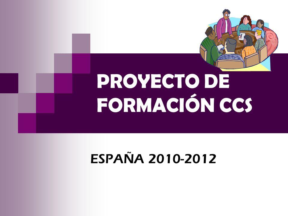 PROYECTO DE FORMACIÓN CCS ESPAÑA 2010-2012