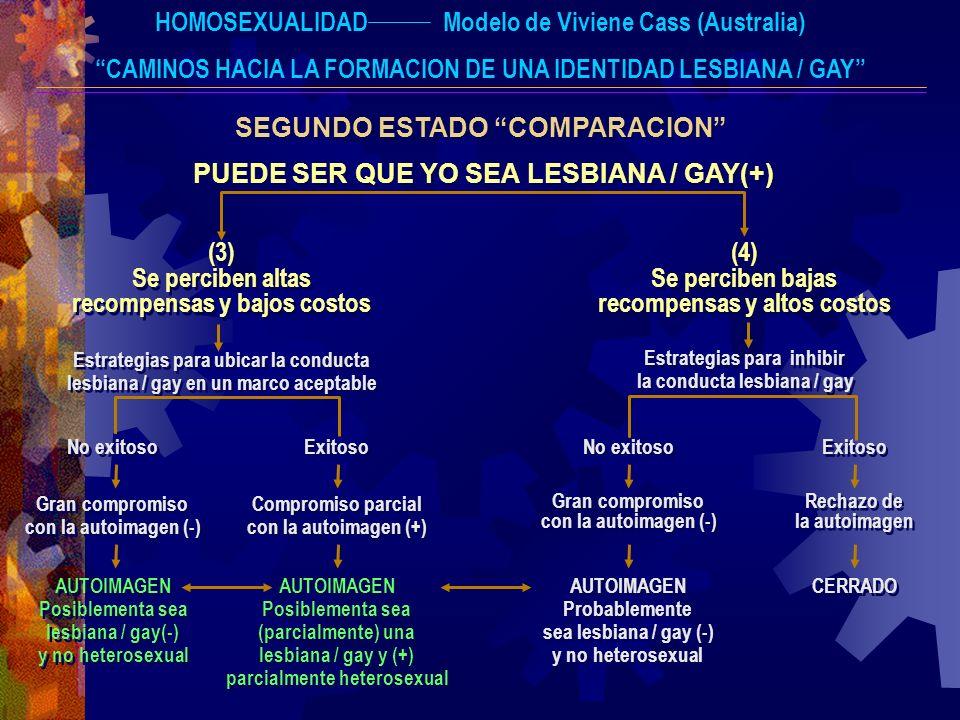 HOMOSEXUALIDADModelo de Viviene Cass (Australia) CAMINOS HACIA LA FORMACION DE UNA IDENTIDAD LESBIANA / GAY SEGUNDO ESTADO COMPARACION PUEDE SER QUE Y