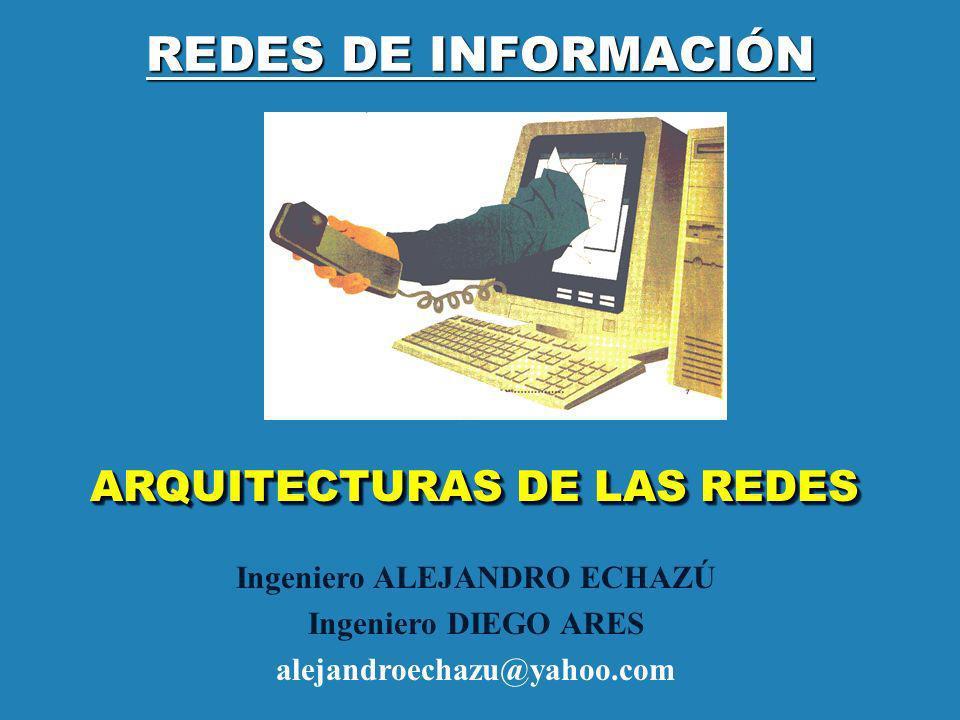 REDES DE INFORMACIÓN ARQUITECTURAS DE LAS REDES Ingeniero ALEJANDRO ECHAZÚ Ingeniero DIEGO ARES alejandroechazu@yahoo.com