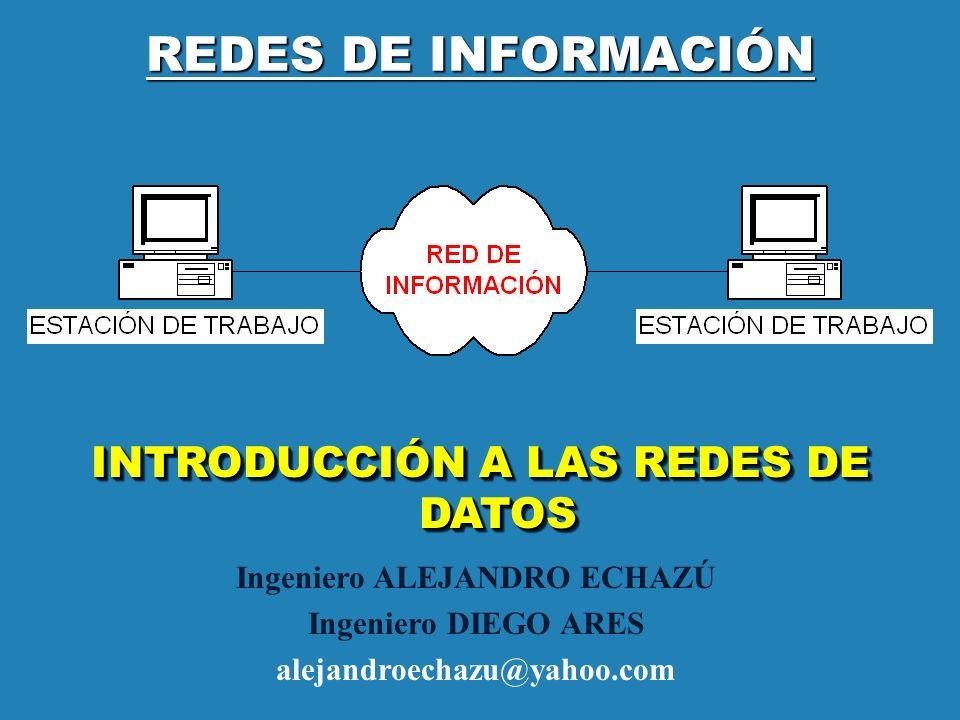 REDES DE INFORMACIÓN INTRODUCCIÓN A LAS REDES DE DATOS Ingeniero ALEJANDRO ECHAZÚ Ingeniero DIEGO ARES alejandroechazu@yahoo.com