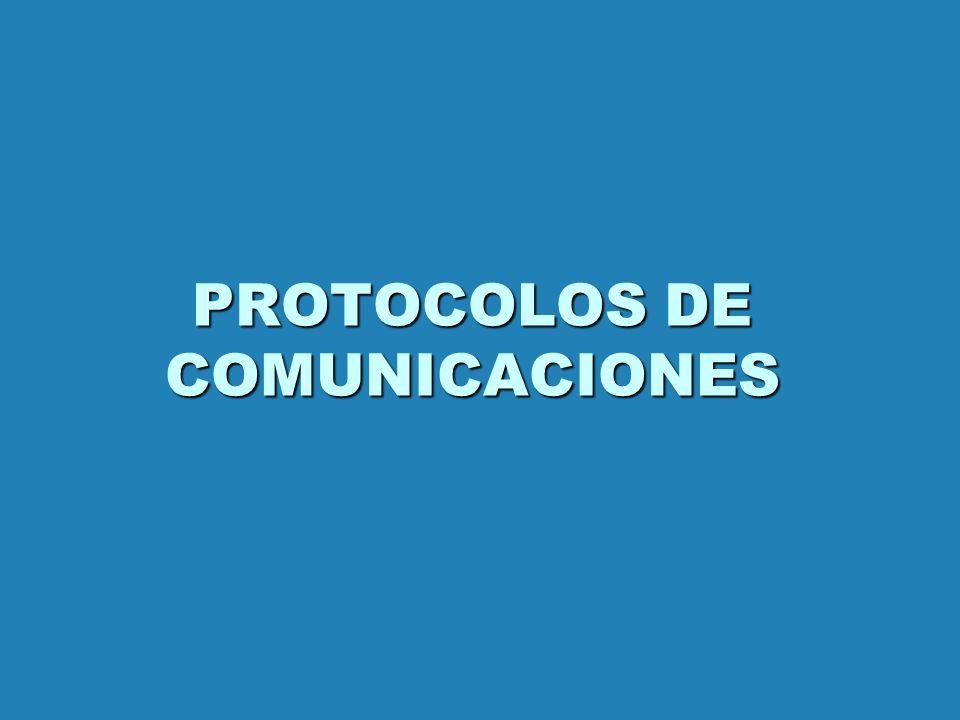 PROTOCOLOS DE COMUNICACIONES