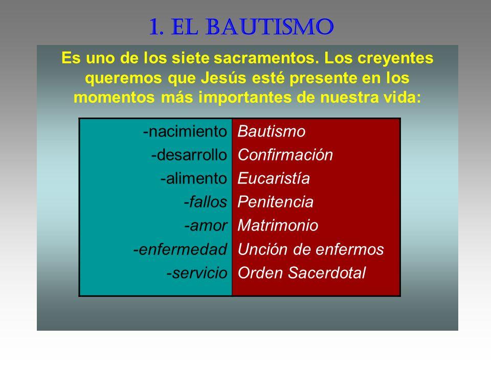 El niño que ha nacido queremos que sea hijo de Dios y miembro de nuestra comunidad, la Iglesia.