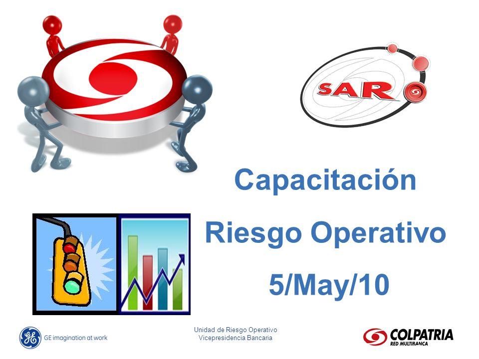 José Eliseo Parra Fonseca Director Riesgo Operativo Unidad de Riesgo Operativo Vicepresidencia Bancaria Capacitación Riesgo Operativo 5/May/10