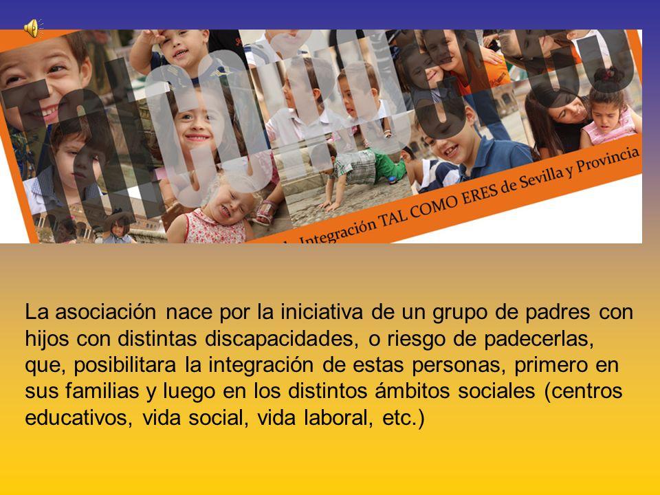 La asociación nace por la iniciativa de un grupo de padres con hijos con distintas discapacidades, o riesgo de padecerlas, que, posibilitara la integración de estas personas, primero en sus familias y luego en los distintos ámbitos sociales (centros educativos, vida social, vida laboral, etc.)