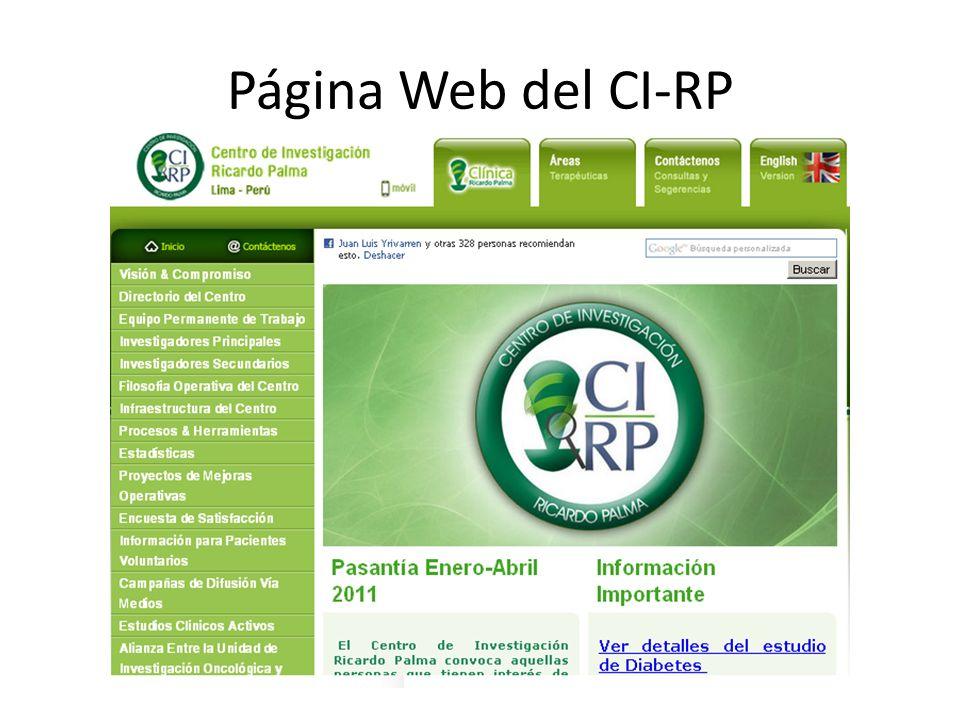 Página Web del CI-RP