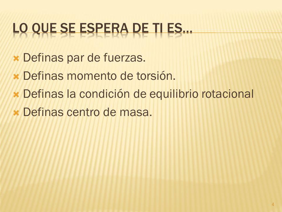 Que entienda algunos conceptos fundamentales en la rotación de los cuerpos. 5