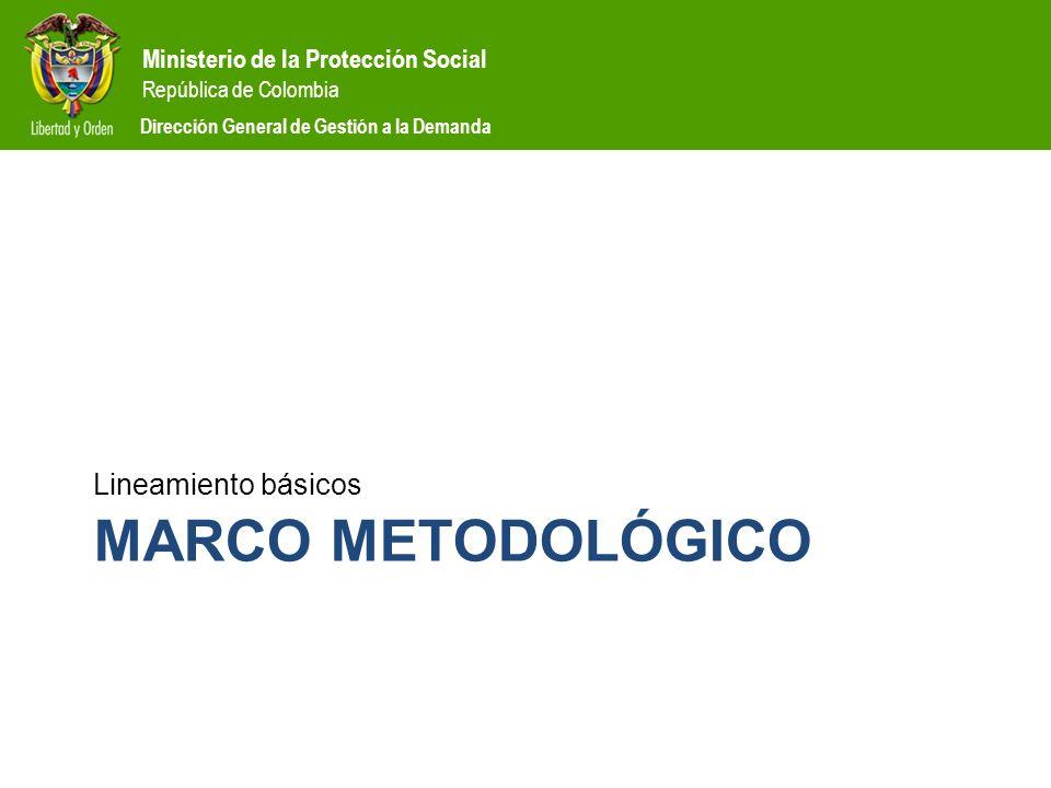 Ministerio de la Protección Social República de Colombia Dirección General de Gestión a la Demanda Estructura del acuerdo de operación CAPÍTULO VI.