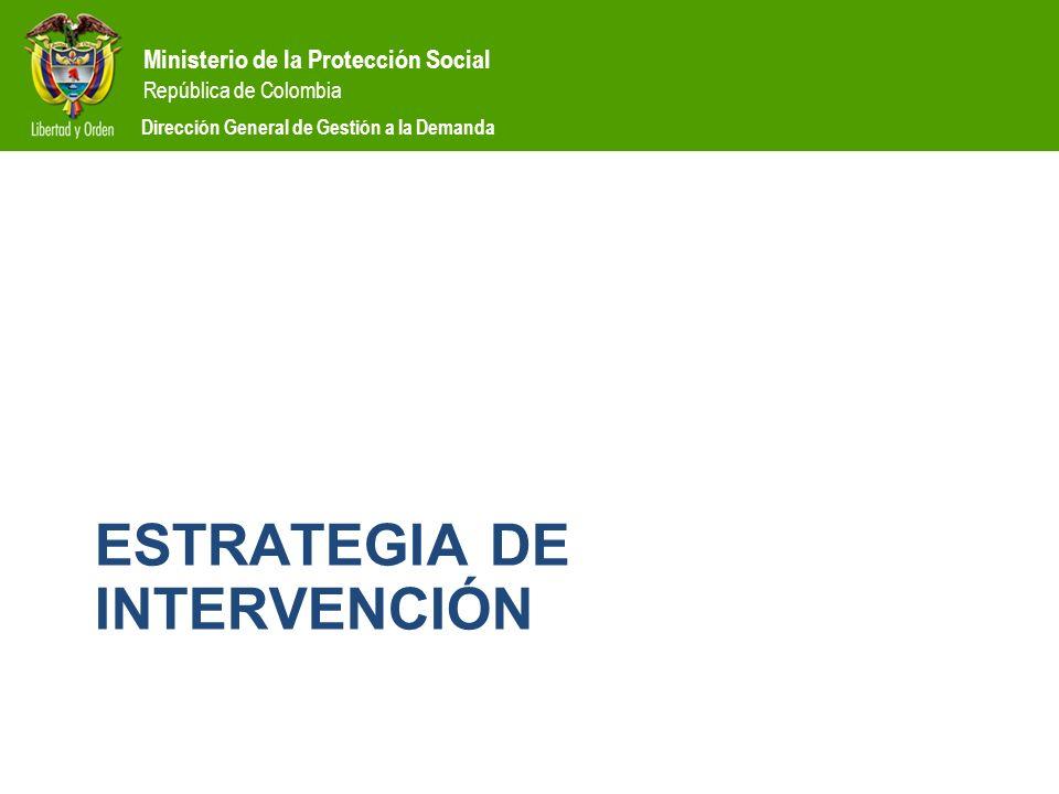 Ministerio de la Protección Social República de Colombia Dirección General de Gestión a la Demanda ESTRATEGIA DE INTERVENCIÓN
