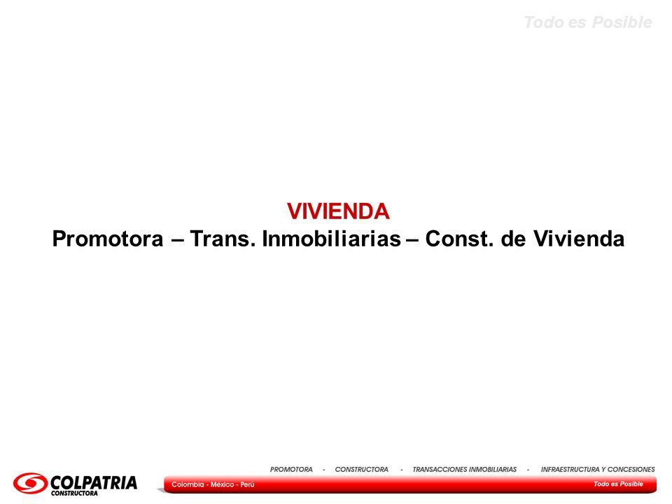 Todo es Posible VIVIENDA Promotora – Trans. Inmobiliarias – Const. de Vivienda