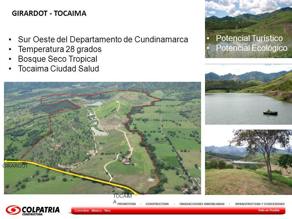 Todo es Posible 7 GIRARDOT - TOCAIMA Sur Oeste del Departamento de Cundinamarca Temperatura 28 grados Bosque Seco Tropical Tocaima Ciudad Salud Potenc
