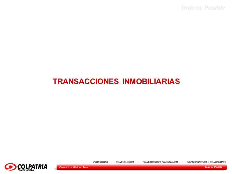 Todo es Posible TRANSACCIONES INMOBILIARIAS