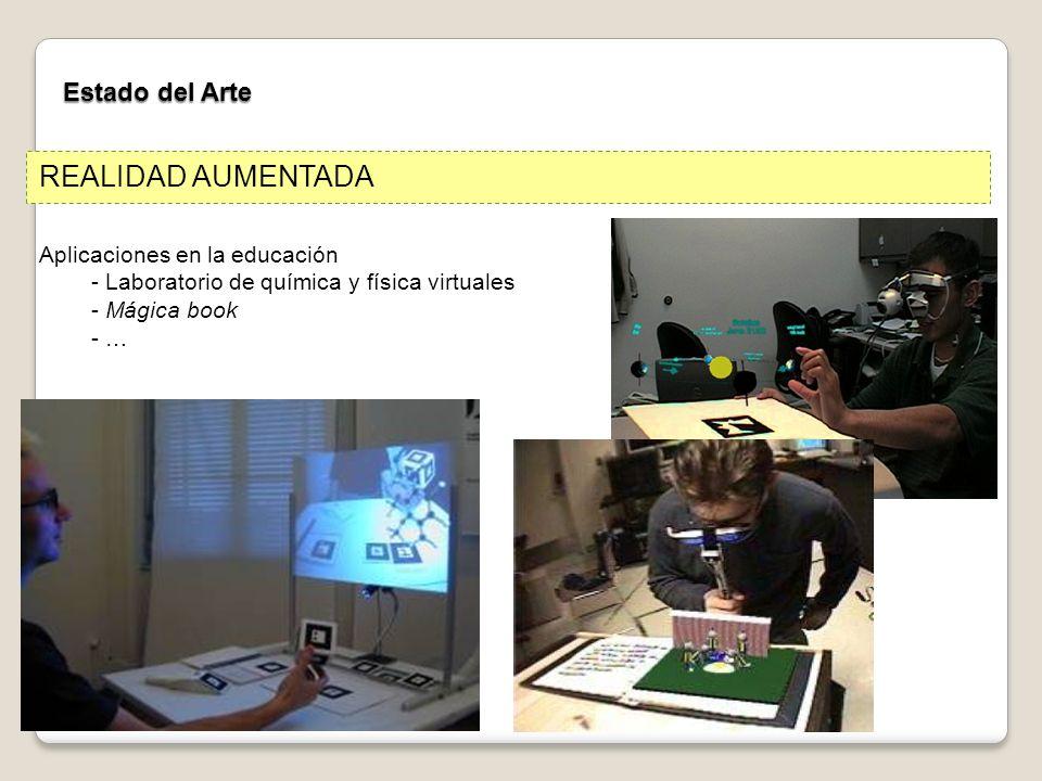 Estado del Arte Aplicaciones en la educación - Laboratorio de química y física virtuales - Mágica book - … REALIDAD AUMENTADA