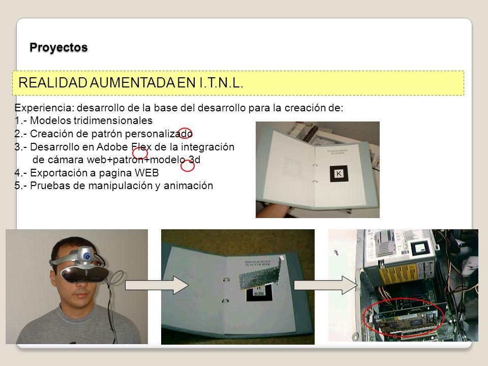 Proyectos REALIDAD AUMENTADA EN I.T.N.L.