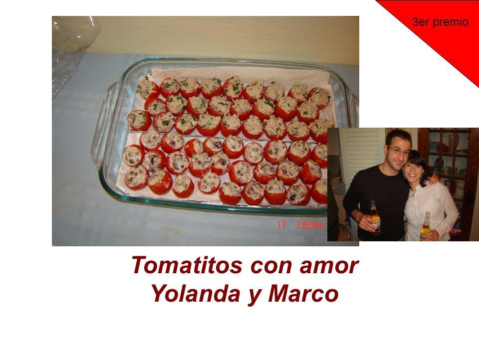 Tomatitos con amor Yolanda y Marco 3er premio