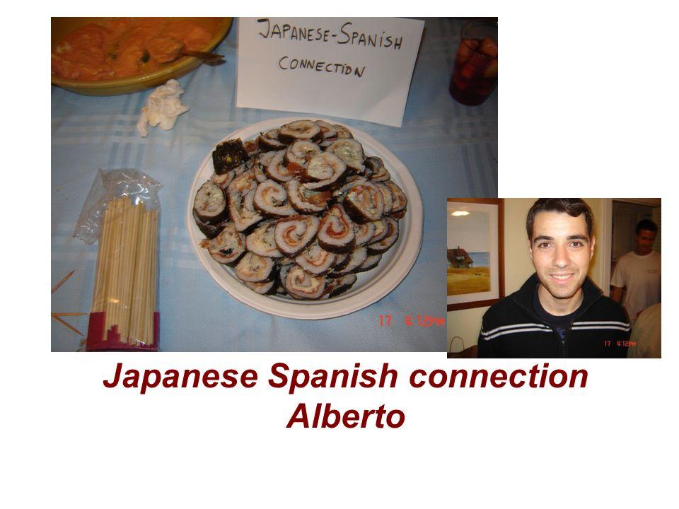 Japanese Spanish connection Alberto
