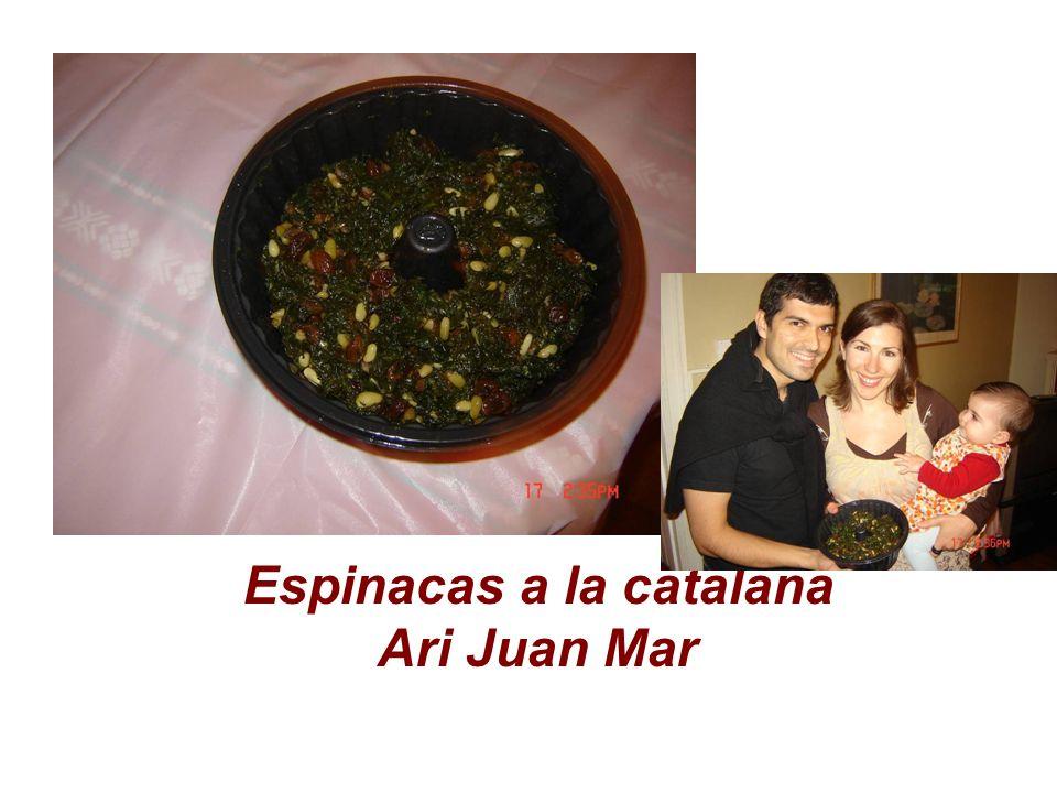 Espinacas a la catalana Ari Juan Mar
