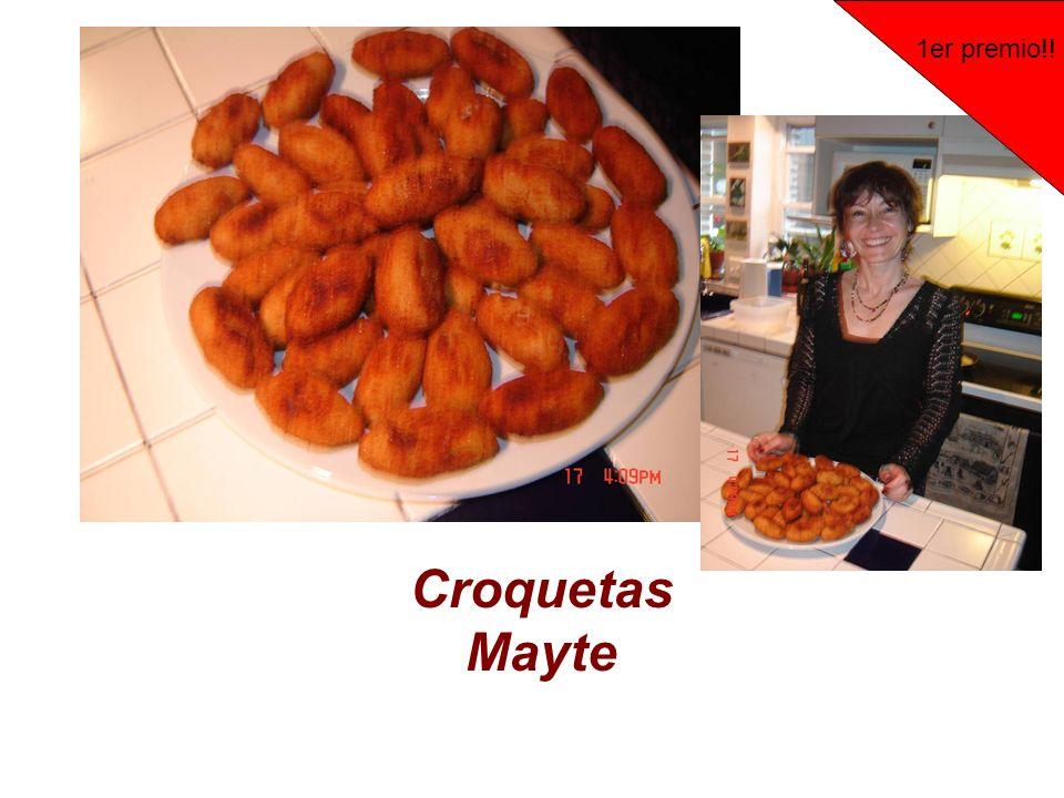 Croquetas Mayte 1er premio!!