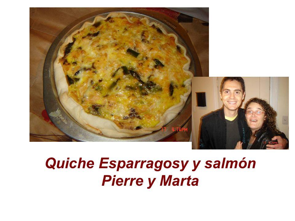 Quiche Esparragosy y salmón Pierre y Marta