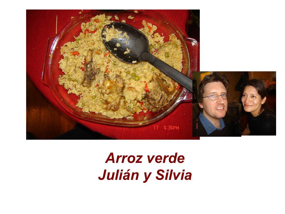 Arroz verde Julián y Silvia
