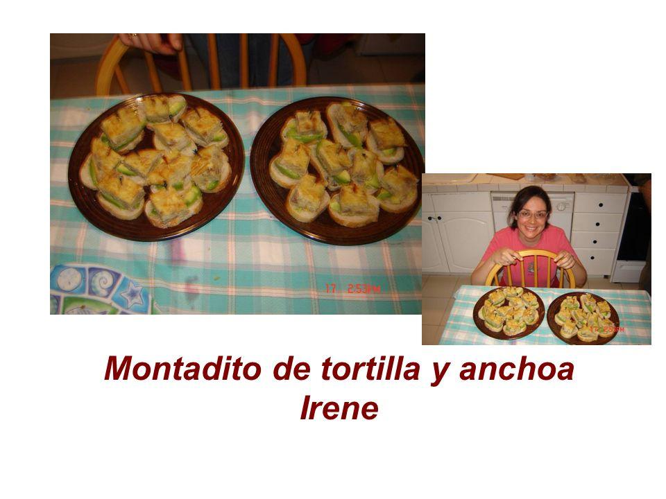 Montadito de tortilla y anchoa Irene