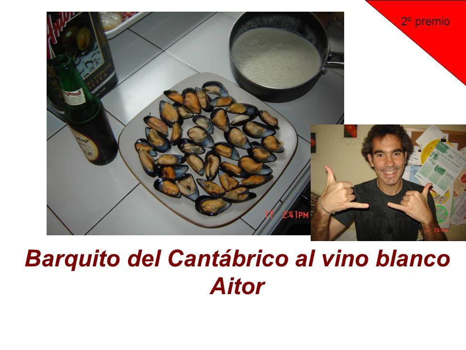 Barquito del Cantábrico al vino blanco Aitor 2º premio