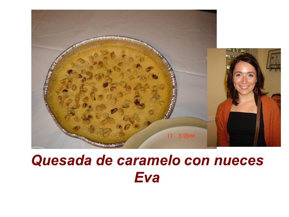 Quesada de caramelo con nueces Eva