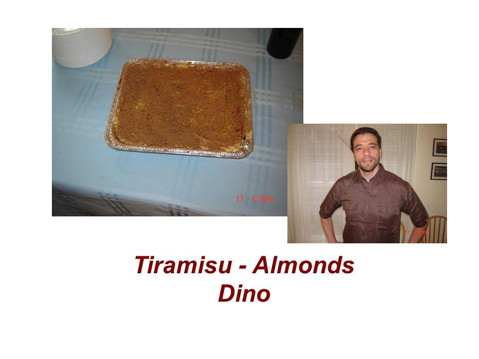 Tiramisu - Almonds Dino
